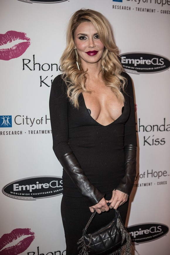 LOS ANGELES, CA - NOVEMBER 03:  Brandi Glanville attends the Benefit Concert And Live Auction For Rhonda's Kiss at El Rey Theatre on November 3, 2015 in Los Angeles, California.  (Photo by Harmony Gerber/FilmMagic)