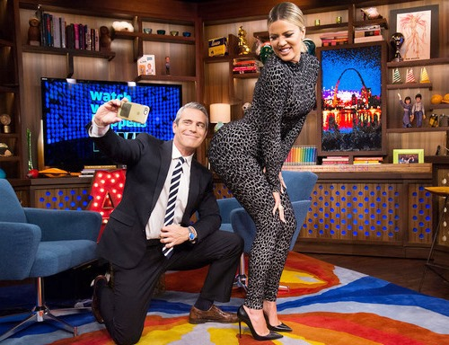 Andy and Khloe belfie on WWHL