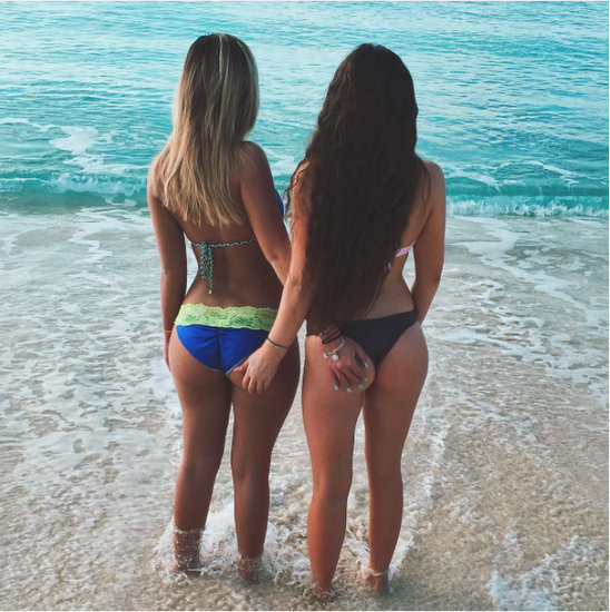 Brielle and friend in the Cayman Islands