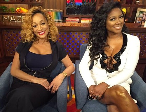 Kenya Moore and Karen Huger