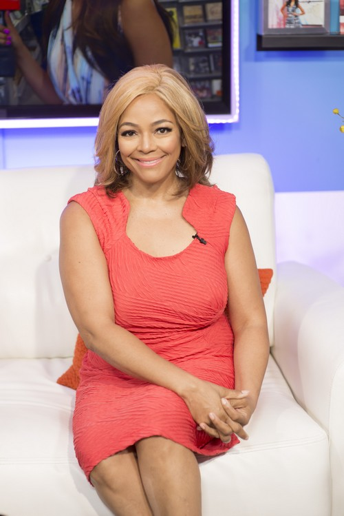 HOLLYWOOD, CA - APRIL 22:  Actress, singer, and director Kim Fields poses for portrait on set at Kim Fields And Sasha Farber Appear On Hollywood Today Live at Hollywood Today Live on April 22, 2016 in Hollywood, California.  (Photo by Michael Bezjian/Getty Images)
