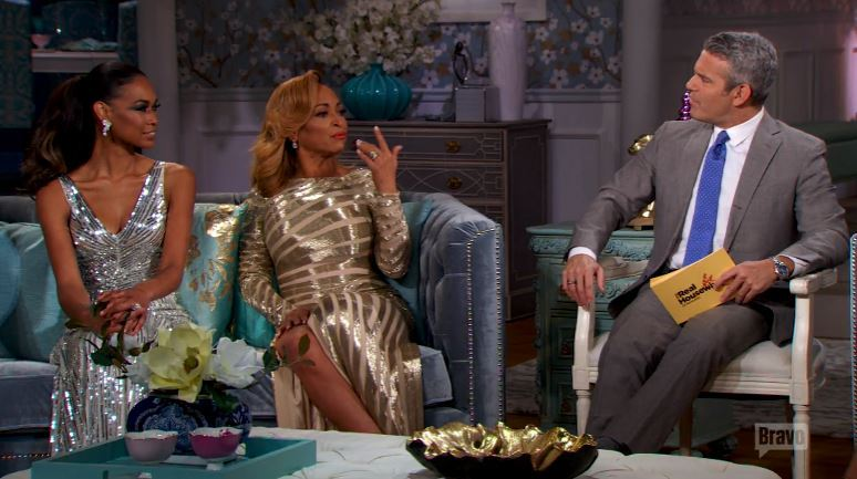 Katie-Rost-Karen-Huger-Andy-Cohen-Reunion-Couches-Part1-Real-Housewives-of-Potomac