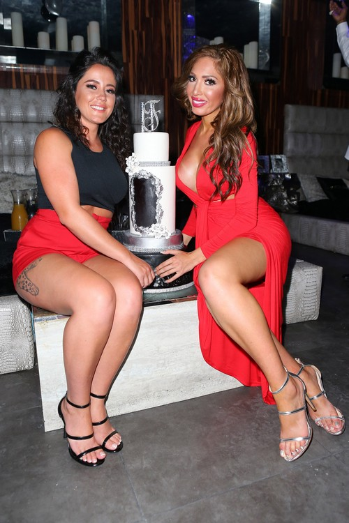 Farrah Abraham and Jenelle Evans attend Farrah Abraham's 25th Birthday Celebration on May 21, 2016 in Miami, Florida.