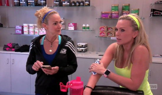 Tamra with her trainer