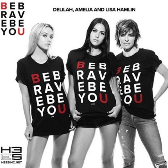 Lisa Rinna Hamlin Be Brave Be You Campaign