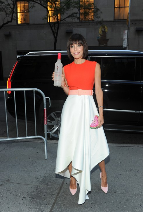 """Bethenny Frankel debuts a new look and a new offering at the launch party for her Skinnygirl Watermelon Lime Margarita with an exclusive viewing of Ã'Real Housewives of New York City,Ã"""" Wednesday, Aug. 17, 2016, in New York.  (Diane Bondareff/Invision for Skinnygirl Cocktails/AP Images)"""