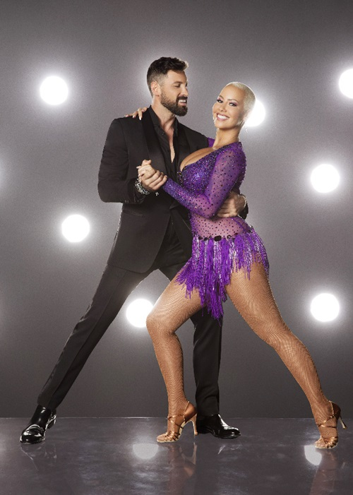 DANCING WITH THE STARS - MAKSIM CHMERKOVSKIY AND AMBER ROSE - The stars grace the ballroom floor for the first time on live national television with their professional partners during the two-hour season premiere of