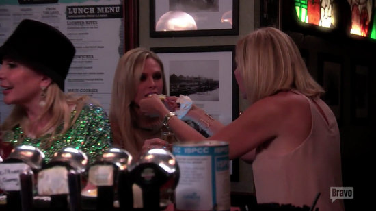 Vicki forces Tamra to drink