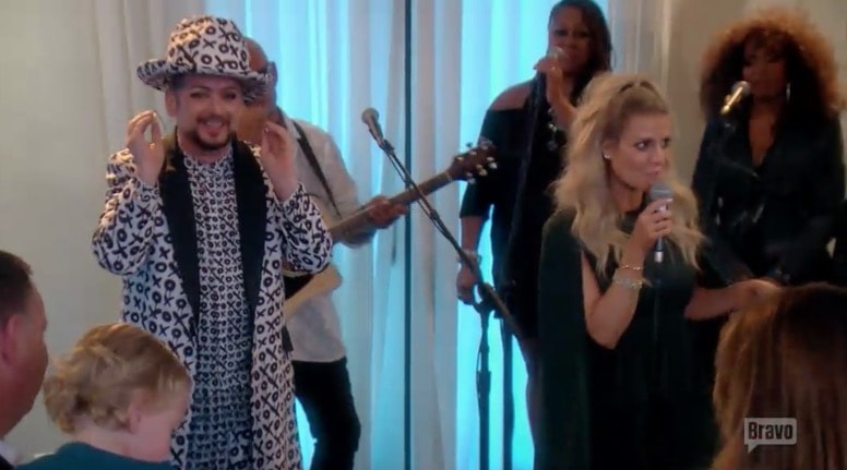 Boy George performs for PK's party