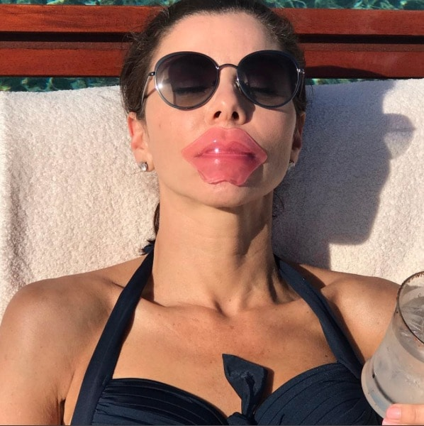 Heather Dubrow shows off her new lips