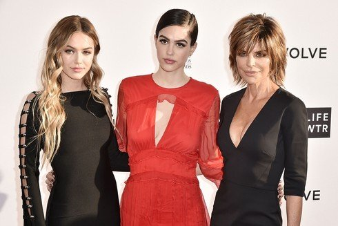 WEST HOLLYWOOD, CA - APRIL 02:  Delilah Hamlin, Amelia Hamlin and Lisa Rinna attend the Daily Front Row's 3rd Annual Fashion Los Angeles Awards - Arrivals at Sunset Tower Hotel on April 2, 2017 in West Hollywood, California.  (Photo by David Crotty/Patrick McMullan via Getty Images)