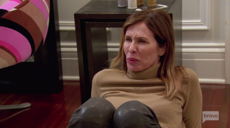 Carole.Radziwill.Leather.Pants.Grimacing.RHONY