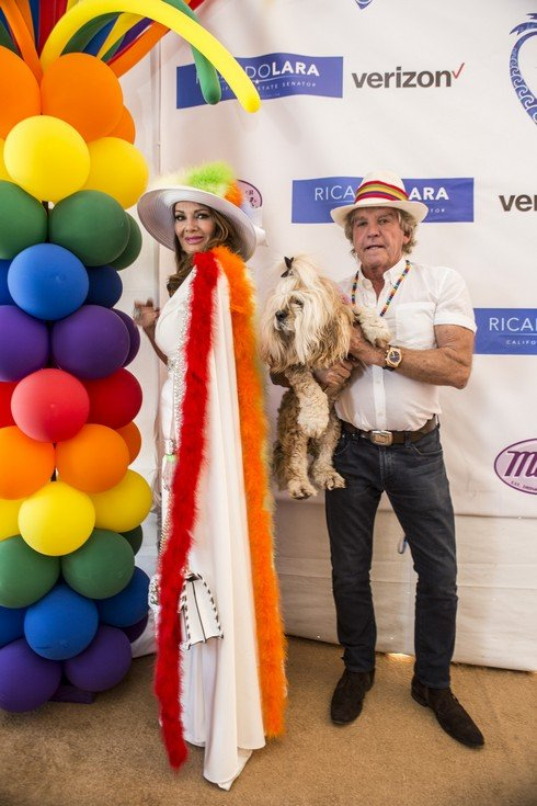 LONG BEACH, CA - MAY 21: Celebrity Grand Marshall Lisa Vanderpump and Ken Todd attend Long Beach Lesbian And Gay Pride Festival at Marina Green Park on May 21, 2017 in Long Beach, California. (Photo by Harmony Gerber/Getty Images)