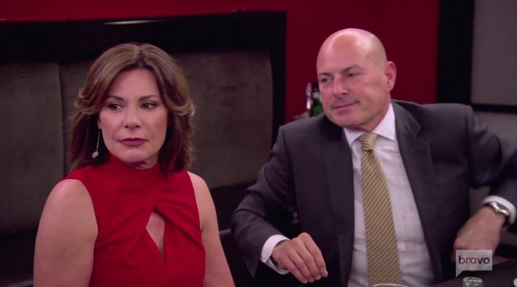 Luann-Delesseps-Tom-Diagostino-Red-Dress-Suit-Dinner-RHONY