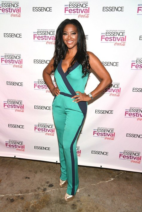 NEW ORLEANS, LA - JUNE 30: (EXCLUSIVE COVERAGE) Kenya Moore poses backstage at the 2017 ESSENCE Festival presented by Coca-Cola at Ernest N. Morial Convention Center on June 30, 2017 in New Orleans, Louisiana. (Photo by Paras Griffin/Getty Images for 2017 ESSENCE Festival )