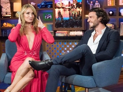 Sonja Morgan and Steve Gold on WWHL