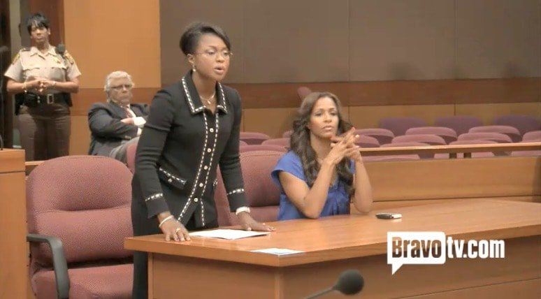Phaedra defends Sheree in court