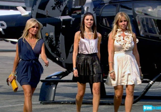 Heather Dubrow Helicopter