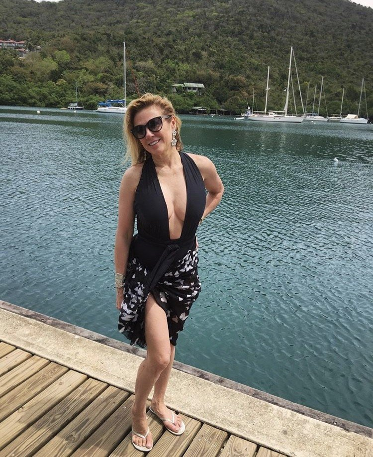 Ramona Singer Vacations In St. Lucia- Photos