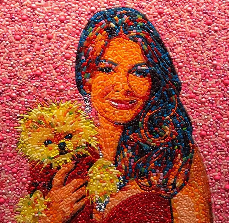 Tom Schwartz Bought Portrait Of Lisa Vanderpump & Her Dog Giggy Made From Candy