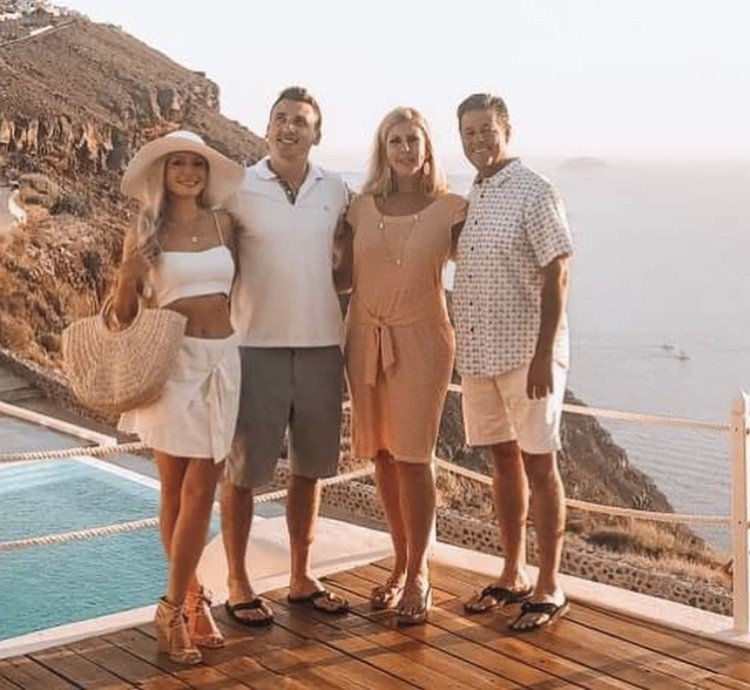 Vicki Gunvalson In Greece With Boyfriend Steve Lodge & Her Son Michael; Runs Into Ramona Singer- Photos
