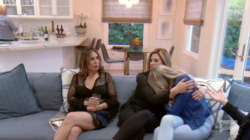 Gina cries at Shannon's dinner party
