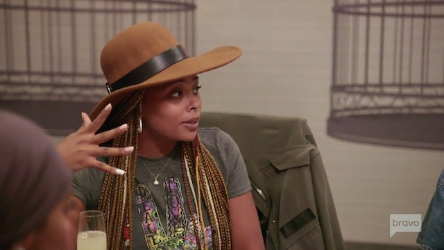 Eva Marcille tries to confront shade