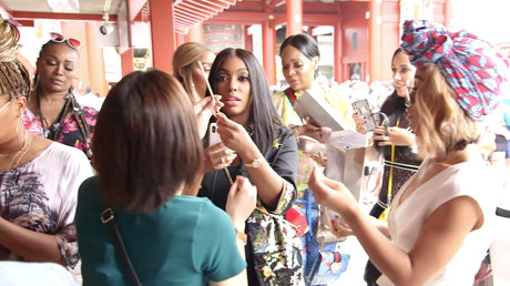 RHOA - fortunes read at Japanese temple