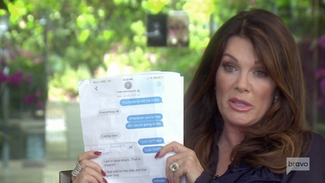 Lisa Vanderpump Texts - Real Housewives Of Beverly Hills