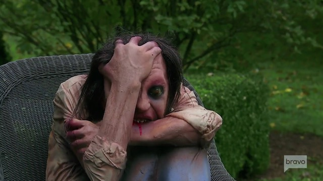 Bethenny Frankel crying zombie in The Berkshires
