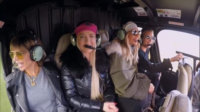 Real Housewives Of Beverly Hills Helicopter ride France