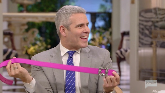 Andy Cohen Lisa Vanderpump Belt
