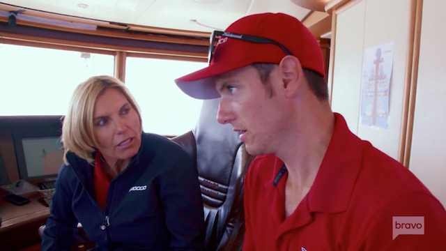 Below Deck Mediterranean Colin Macy-O'Toole Captain Sandy Yawn