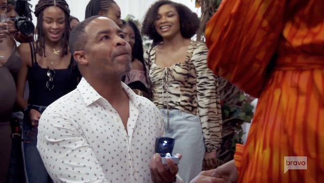 Mike Hill Proposes To Cynthia Bailey
