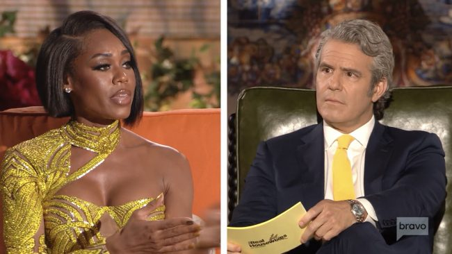 Monique Samuels Andy Cohen Real Housewives Of Potomac