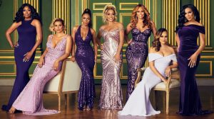 Real Housewives of Potomac Wendy Osefo, Robyn Dixon, Candiace Dillard, Karen Huger, Gizelle Bryant, Ashley Darby, Mia Thornton