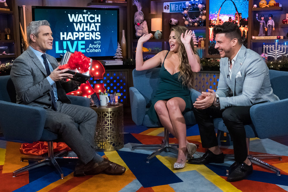 Andy Cohen. Brittany Cartwright, & Jax Taylor