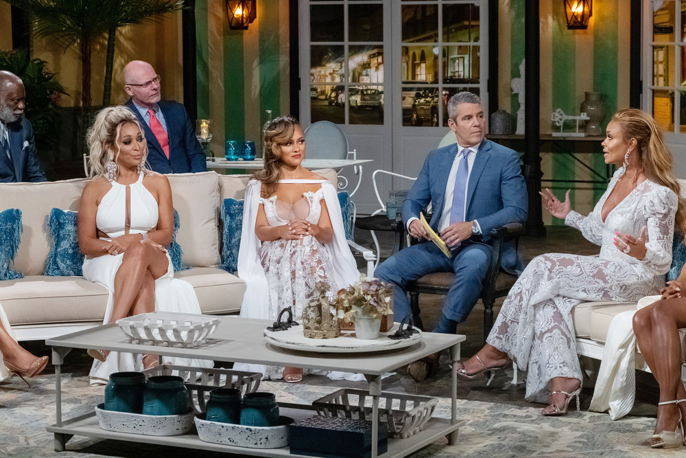 Raymond A Huger, Karen Huger, Michael Darby, Ashley Darby, Andy Cohen, Gizelle Bryant